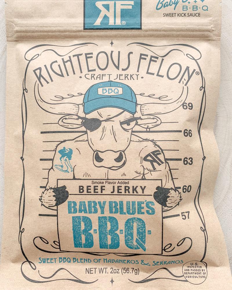 Righteous felon Righteous Felon Baby Blues BBQ Beef Jerkey