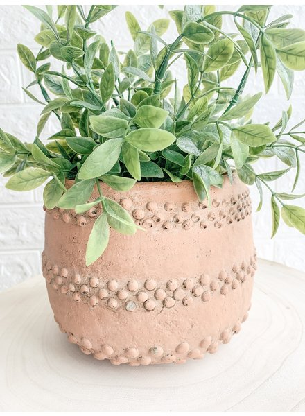 Creative Co Op Cement Round Planter Terracotta Color