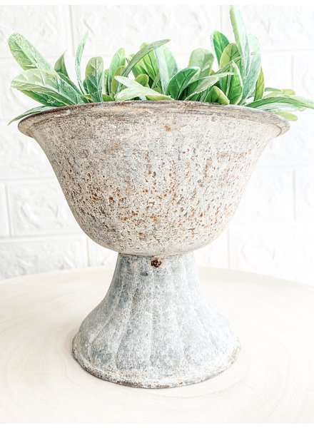 Creative Co Op Iron Distressed Pot