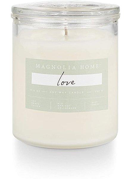 Illume Magnolia Home Love Lidded Glass Candle