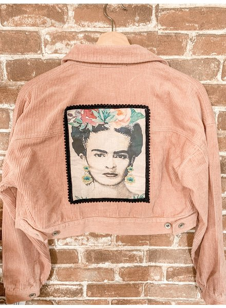 Crescent Moon Clothing Re Purposed Frida Corduroy Pink Jacket