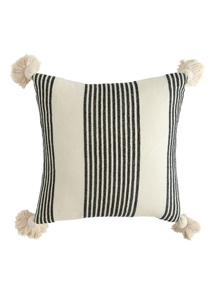 Creative Co Op Black And White Stripe Pillow