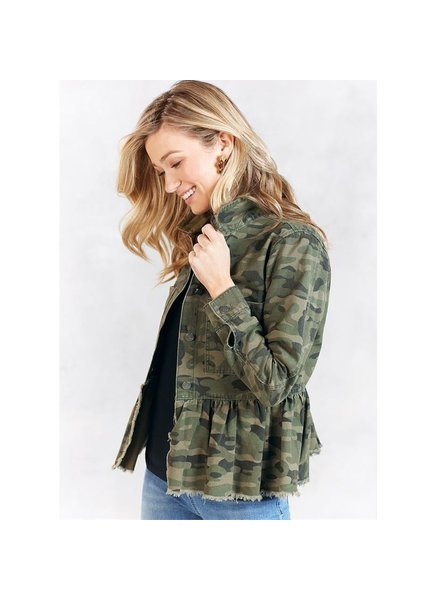 Mud Pie Banks Jacket Green Camo
