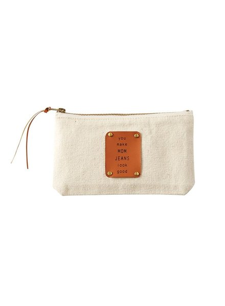 Mud Pie Mom Jeans Canvas Pouch