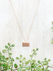 Floral Stamped PA Necklace Rose Gold