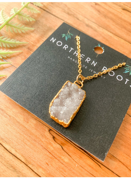 Northern Roots Druzy Necklace