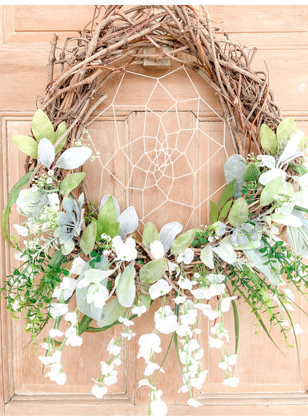 Balsam and Willow by Julie White Wisteria Dream Catcher Wreath
