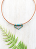 Jessica Payne Hand Beaded Pink/Gold/Green Necklace