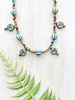 Picasso Beads and Czech Glass Bird Charm Necklace LA287