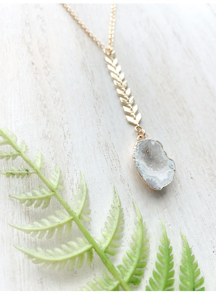 Northern Roots Druzy Multi-Moonstone Necklace