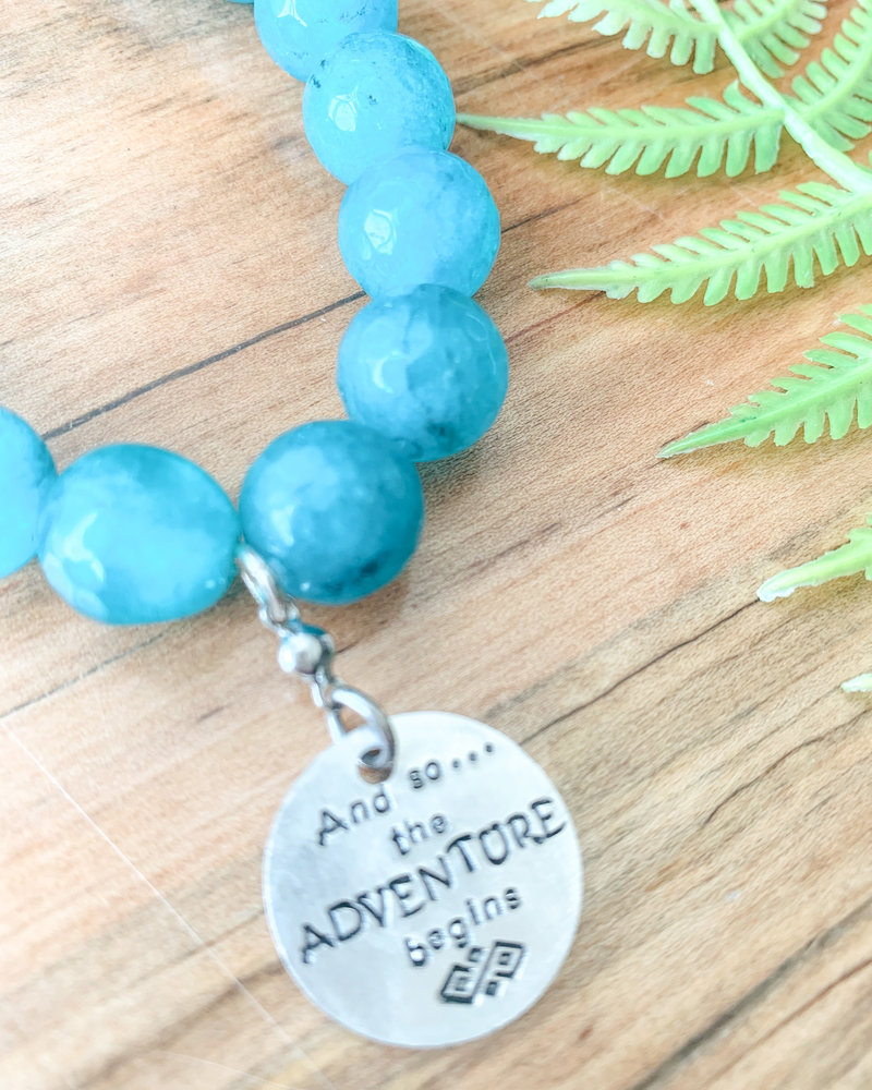 And So The Adventure Begins Gemstone Bracelet