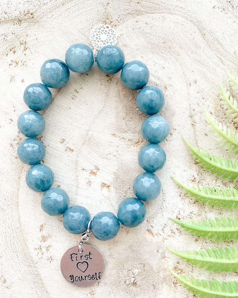 First Love Yourself Gem Stone Bracelet