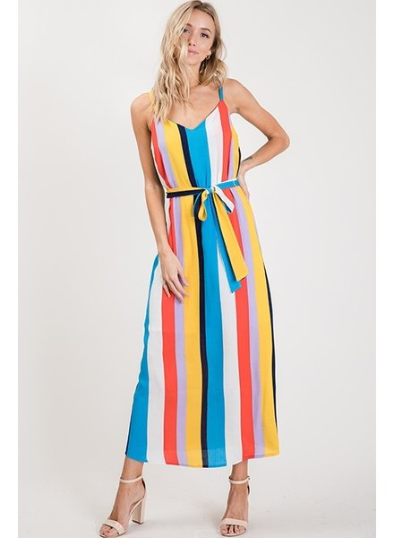 Ces Femme Cami Multi Stripe Maxi Dress