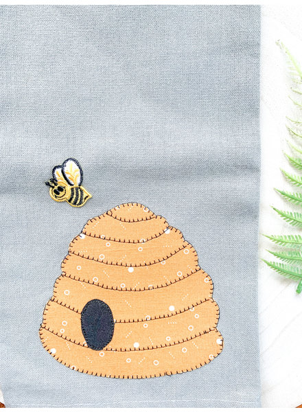 Denise Malone Assorted Beehive Applique Tea Towels