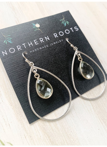 Northern Roots Handmade Green Ametheyst Earrings 2854