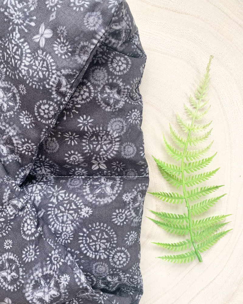 Aromatherapy Shoulder Wrap Purple Medallion Print  Rosemary and Lavender