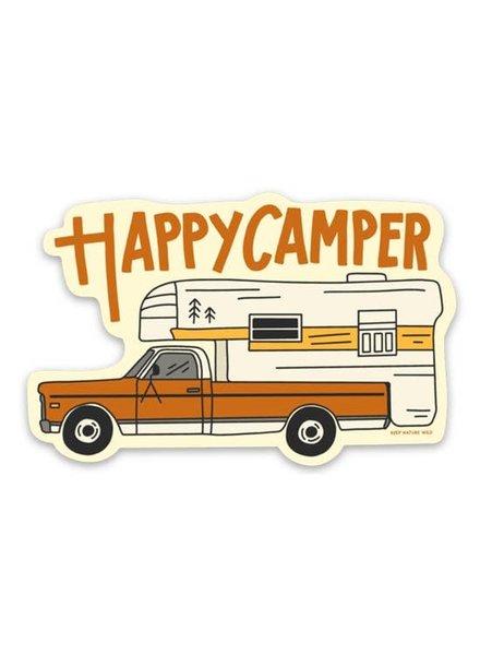 Keep Nature Wild Happy Camper RV Sticker