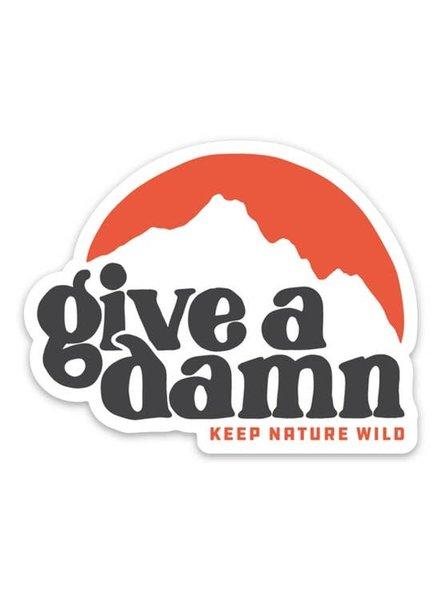 Keep Nature Wild Give A Damn Sticker
