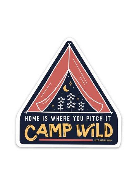 Keep Nature Wild Camp Wild Sticker