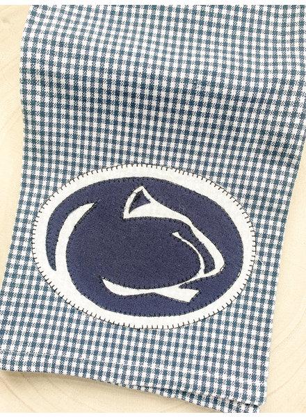 Denise Malone Penn State Logo Applique Tea Towel