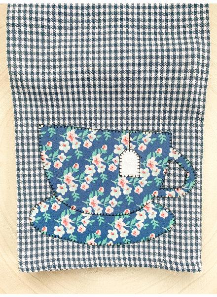 Denise Malone Teacup Applique Tea Towel