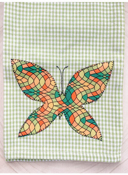 Denise Malone Butterfly Applique Tea Towel