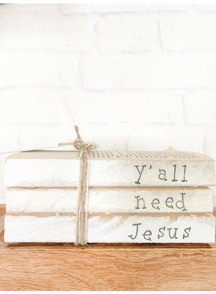 Dustin Yothers Y'all Need Alittle Jesus Book Stack