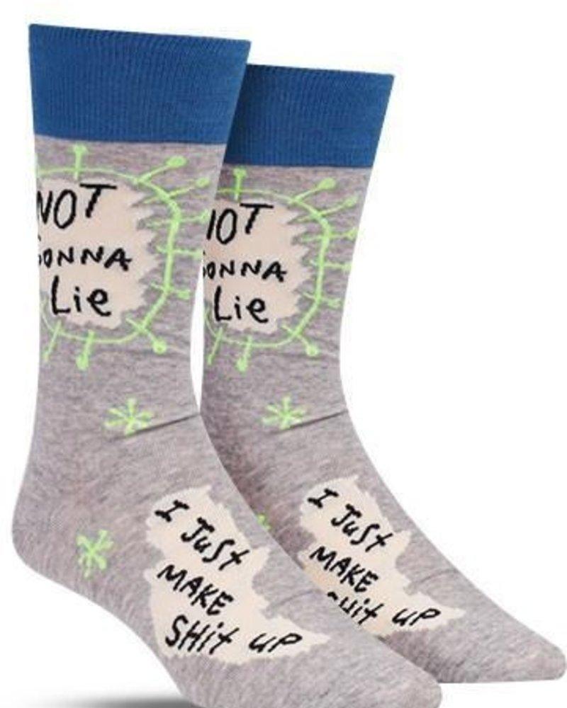 Blue Q Men's Socks not gonna lie