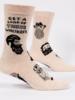 Blue Q Men's Tall Socks Whiskers