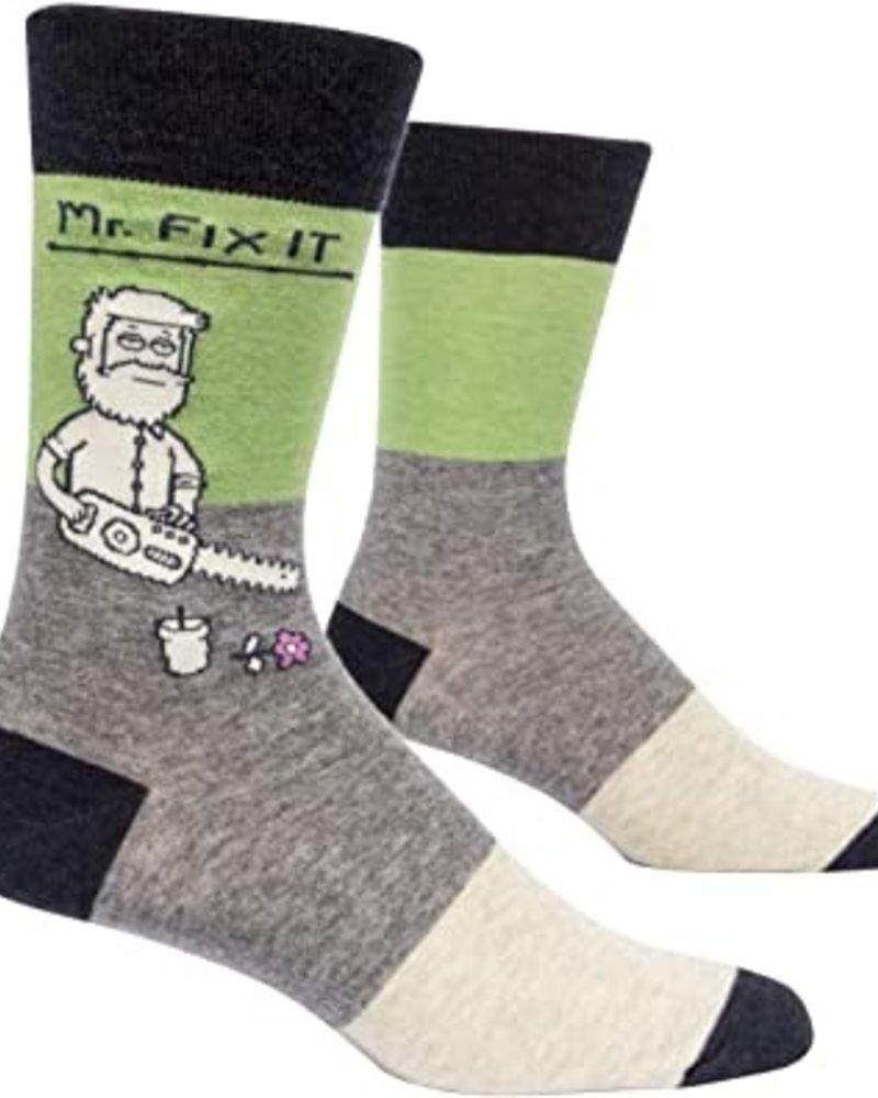 Blue Q Men's Tall Socks Mr. Fix It
