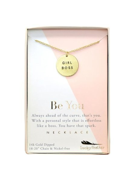 """""""Girl Boss"""" Be You Gold Necklace"""