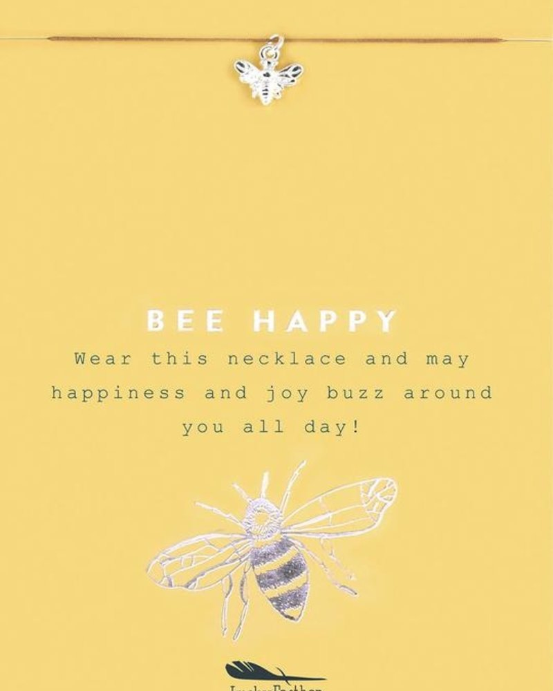 Bee Happy Silver Necklace