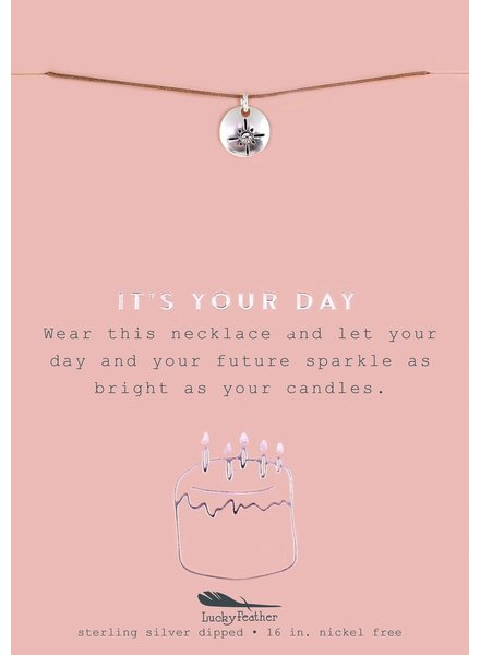 It's Your Day Silver Necklace
