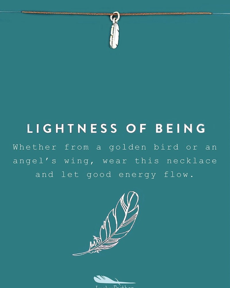 Lightness Of Being Silver Necklace