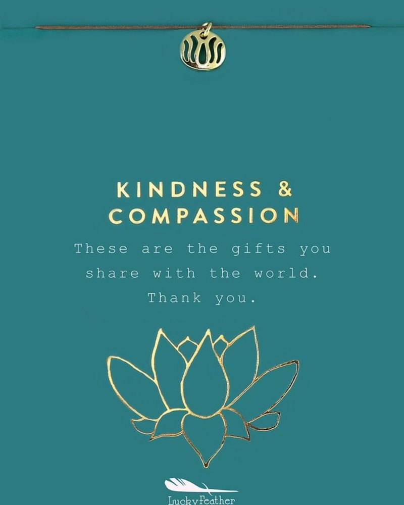 Kindness and Compassion Gold Necklace
