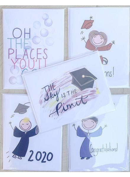 Farley Kaiser Hand Drawn Graduation Cards