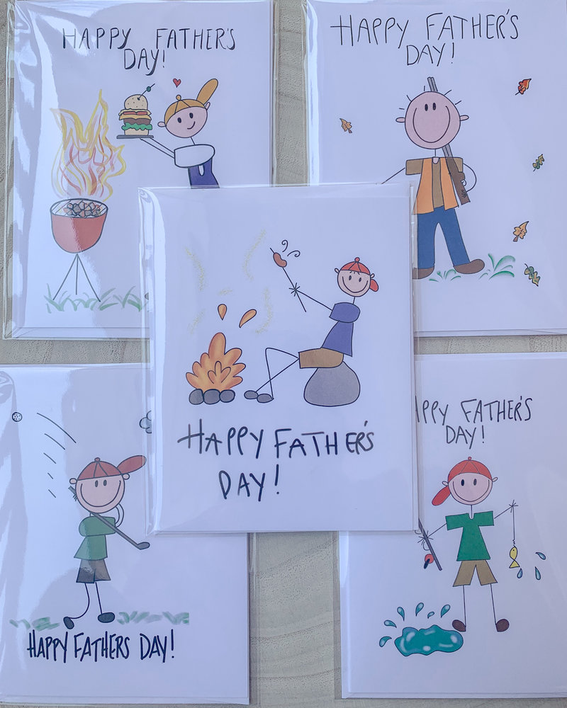 Farley Kaiser Hand Drawn Father's Day Cards