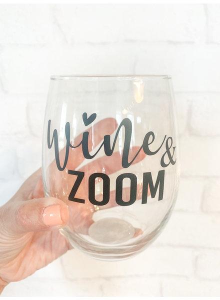 Wine and Zoom Stemless Wine Glass
