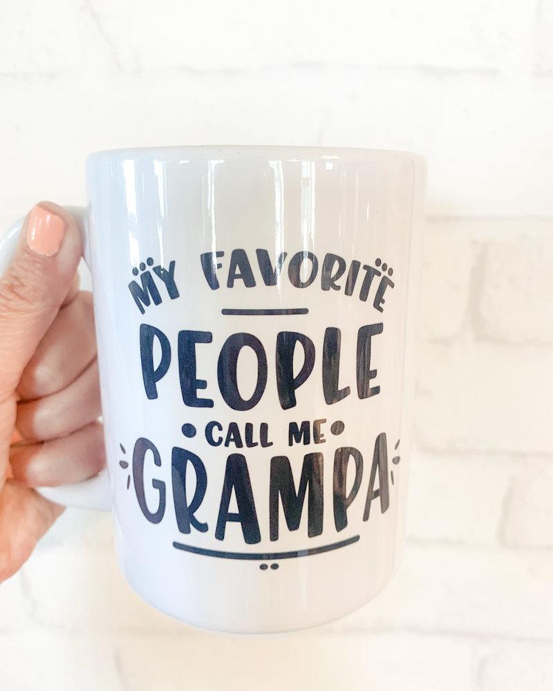 My Favorite People Call Me Grampa Mug