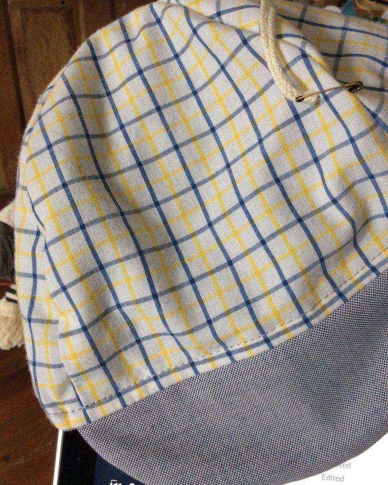 Oweee Baby Boys Reversible Cap Yellow Plaid