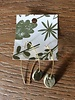 Lydia Ciafre Organic Clay Green Diamond Earrings