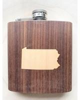 Autumn Summer Co Pennsylvania Inlay Flask