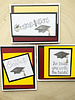 Maroon and Gold Pop up Graduation Card