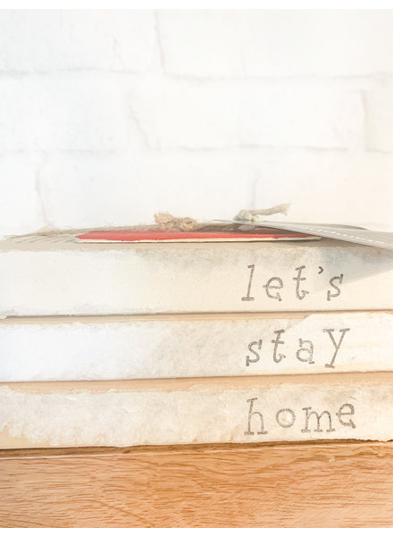 Dustin Yothers Let's Stay Home Book Stack