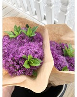 Sycamore Knoll Farms Locally Grown Fresh Allium and Mint bouquets