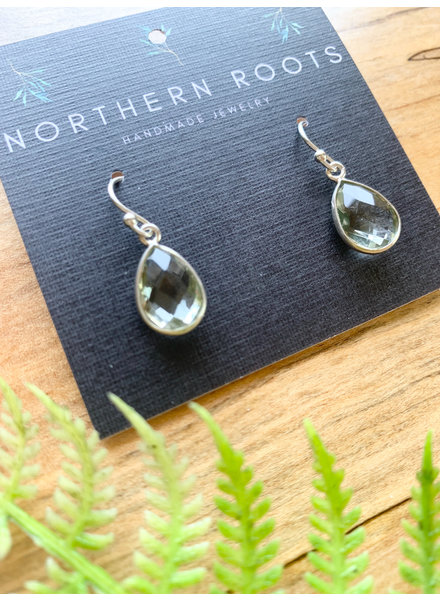 Northern Roots Green Amethyst Earrings  2877