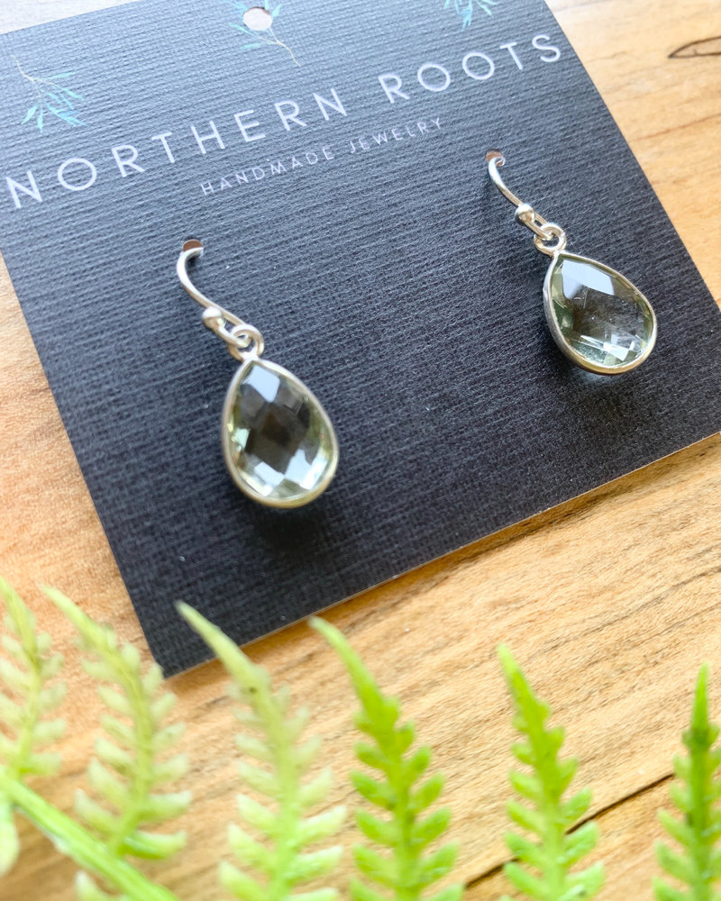 Northern Roots Green Amethyst Earrings  2877