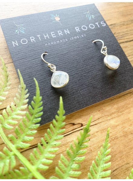 Northern Roots Tiny Rainbow Moonstone Teardrops  2876
