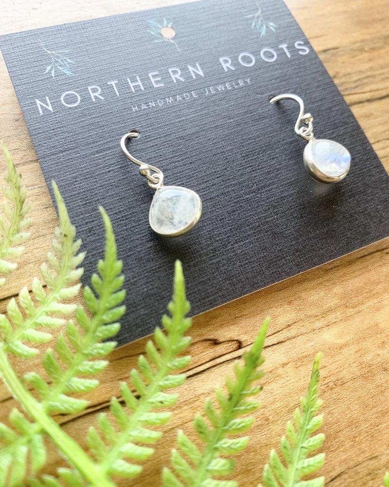 Northern Roots Tiny Rainbow Moonstone Teardrops 2876