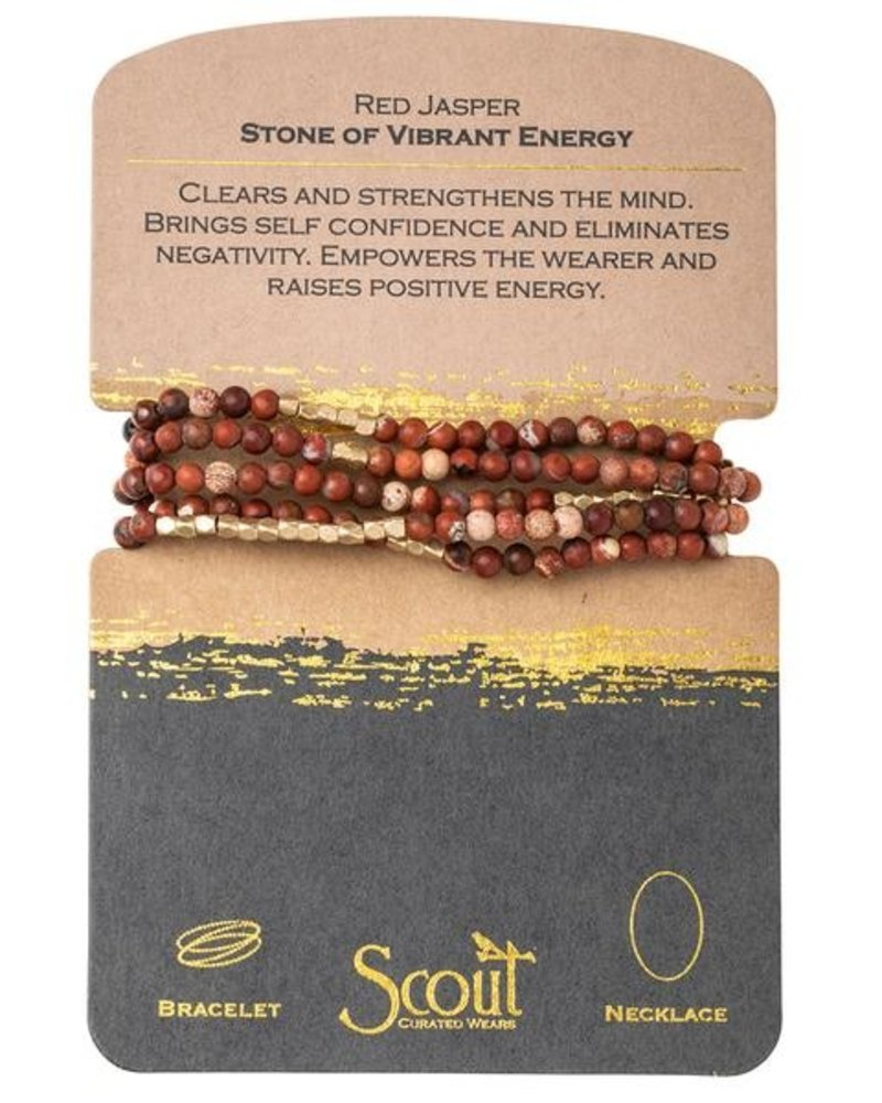 Scout Curated Wears Inspirational Stone Wrap Bracelet/Necklace
